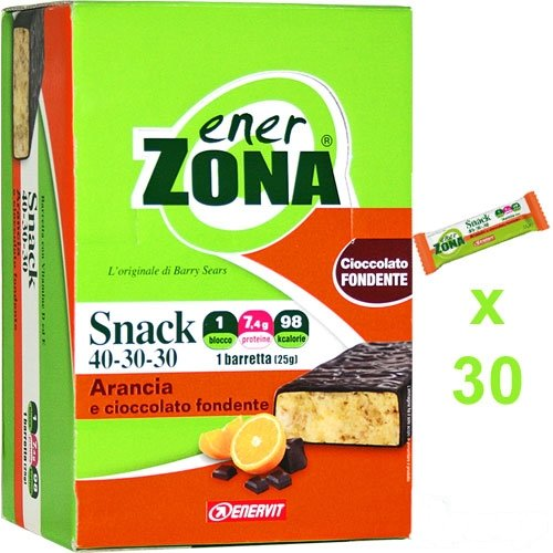 ENERZONA 30 SNACK 40-30-30 Dieta Zona ARANCIA E CIOCCOLATO FONDENTE