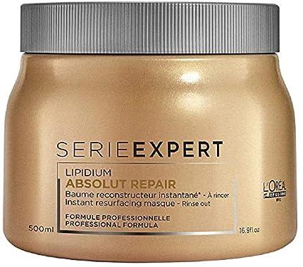 L'Oréal Professionnel | Experto en Serie | Mascarilla para el cabello Absolut Repair | Para cabello dañado, 500 ml