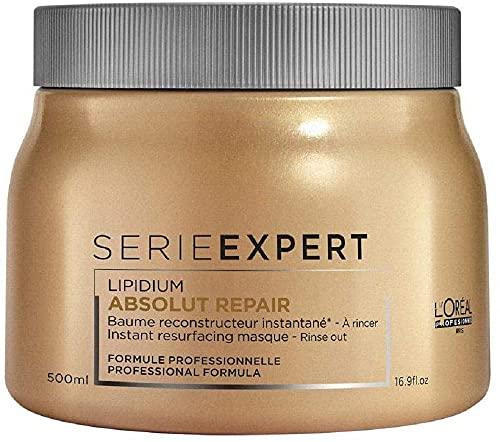 L Oréal Professionnel | Experto en Serie | Mascarilla para el cabello Absolut Repair | Para cabello dañado, 500 ml