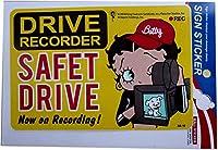 Betty Boop ベティ ブープ ステッカー ドライブレコーダー 【トイレ 監視中! DRIVE RECORDER SAFET DRIVE】