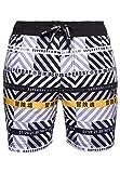 Superdry 21' Boardshort Pantalones Cortos, White AOP, Large para Hombre