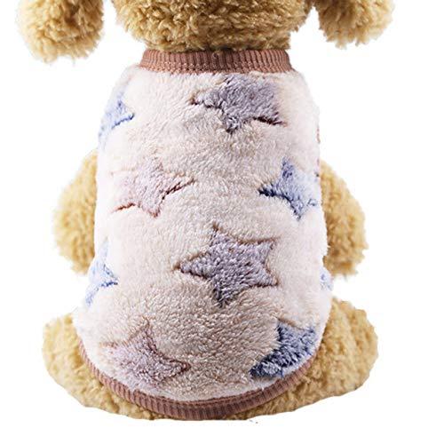 KTUCN Ropa para Mascotas Bonita Ropa cálida para Perros, para Perros pequeños, Ropa de Invierno de algodón para Perros, Abrigo, Chaqueta, Ropa para Cachorros, Abrigo para Perros y Mascotas, 3, L