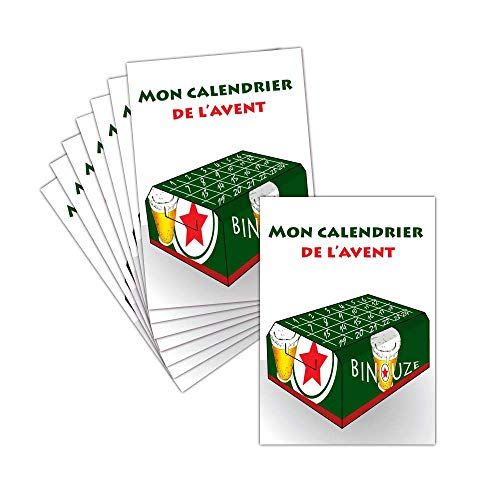 Tarjeta Noel Humor–feliz Navidad–8tarjetas–Tarjeta el calendario de adviento Pack de cerveza ➽ Dispo en 3tamaños Carte postale - 11 cm x 16 cm