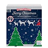 DreamBone Holiday Advent Calendar 24 Count, Real Chicken Rawhide-Free Chews for Small Dogs