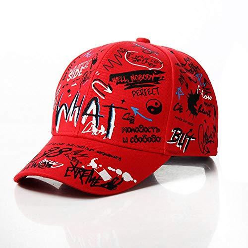 Cap Hip Hop Casquette de Baseball pour Enfants Graffiti Impression Nouveau Papa Chapeau Coton Mode réglable Papa Chapeaux pour Enfants Casquettes de Sport Rouge