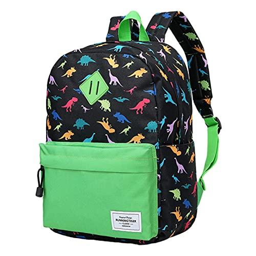 Juego de 3 mochilas escolares de dinosaurio lindo - Mochila de dinosaurio pequeña de tres colores a juego, 16.7 x 12 pulgadas, mochila de dinosaurio para niños, niñas y adolescentes
