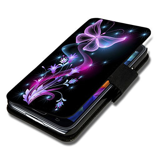 wicostar Book Style Flip Handy Tasche Hülle Schutz Hülle Schale Motiv Foto Etui für LG Bello 2 / Bello II - Flip X12 Design6