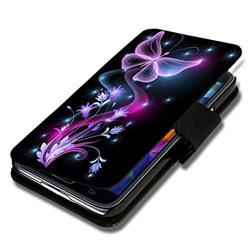 wicostar Book Style Flip Handy Tasche Hülle Schutz Hülle Schale Motiv Etui für Huawei Ascend Y330 - Flip X12 Design6