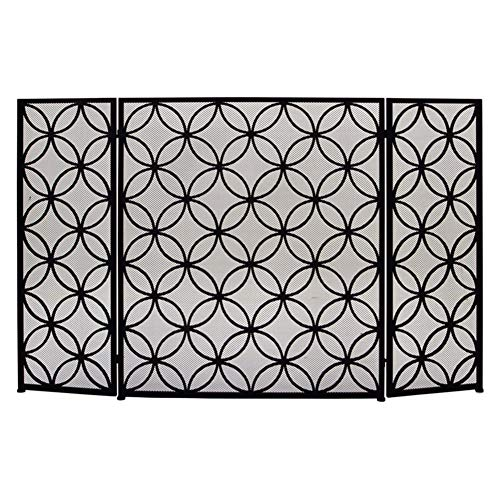 Review fireplace screen LXLA Extendable with 3-Panel Mesh, Baby Safe Child Proof Fire Guard Screens,...