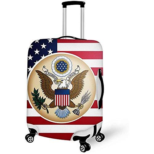 American Flag Eagle Travel Equipaje Cubierta de Maleta Protector de Equipaje Funda Protectora antiarañazos Funda Protectora a Prueba de Polvo, sin Remover M