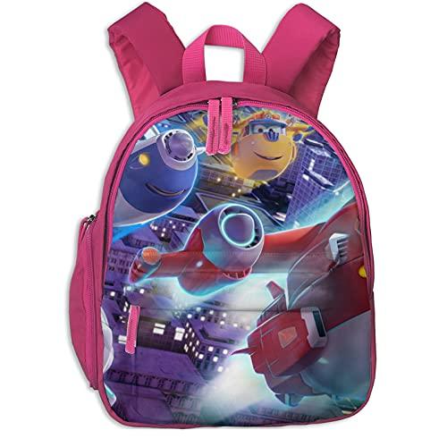 Mochila para niños para guardería, escuela preescolar, Super Wings Flying impermeable mochila para bebé