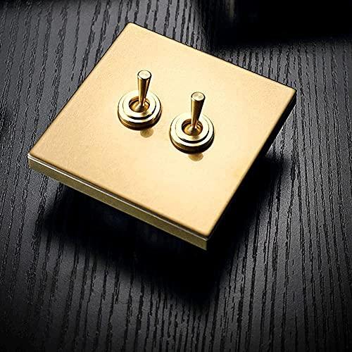 PJDOOJAE Interruptor de control de doble doble interruptor de control de doble control, interruptor de palanca retro de 86 tipo interruptor de palanca de pared oculta de pared de pared 1-4 GANGS VÍA V