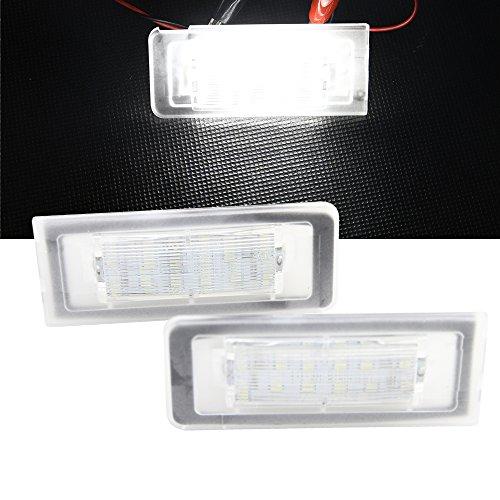 Nslumo 2 x 12 V 3 W 18 LEDs licence lampe de plaque d'immatriculation pour TT Roadster 8 N9 Coupé 8 N3 98–06 de remplacement Car Styling Auto Accessoires