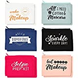 Makeup Toiletry Travel Bag for Women with Zippers in 6 Colors (8 x 6 In, 12 Pk)