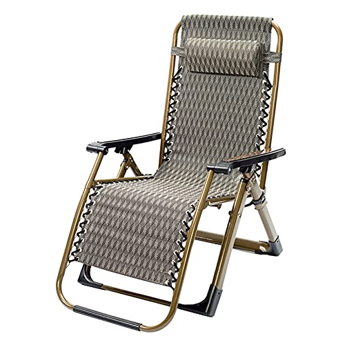 ZHAORU Silla Plegable Zero Gravity para Patio reclinable con Almohada extraíble, sillón antigravedad, Soporte de 441 Libras, para Exteriores, Camping, jardín, Patio, césped