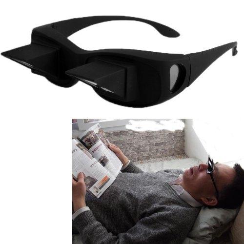 Hochwertige Periskop Brille Modell Mann bequem lesen liegend lesen Brille Spiegelbrille Prismabrille Blick umlenkende Winkelbrille TV-Brille