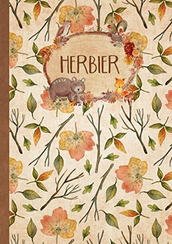 Herbier: Vierge à Remplir pour Conserver Feuilles, Fleurs et Plantes Séchées   Convient aux Enfants comme aux Adultes   Cahier Herbier Thème Forêt (Format A4)