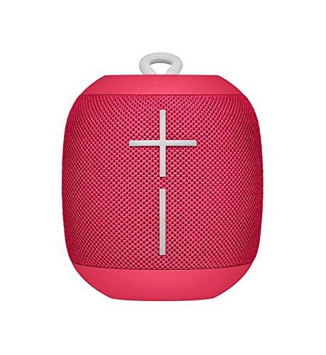Ultimate Ears Wonderboom Altavoz Portátil Inalámbrico Bluetooth, Sonido Envolvente de 360°, Impermeable, Conexión de 2 Altavoces para Sonido Potente, Batería de 10 h, Rosa (Raspberry)