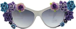 女性 サングラス オーバーサイズ サマービーチ 手作り 紫外線保護 バケーションサングラス, ファッションサングラス