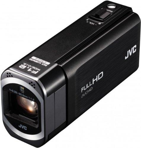 JVC GZ-V500BEU Speicherkarten-Camcorder (SDXC, Full HD, 10-Fach Opt. Zoom, 7,6 cm (3 Zoll) Touchscreen, HDMI) schwarz