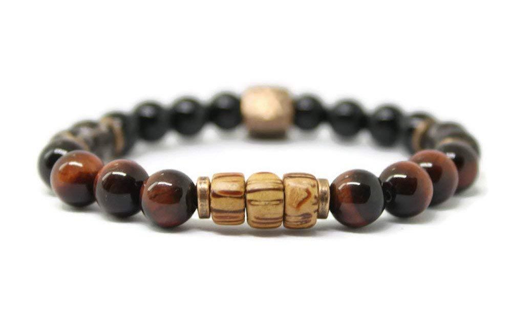Unisex New product! New type Gemstone Bracelet Genuine Mens Stone Positive for Energy Jewelry