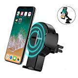 steanum Caricatore Wireless Auto Rapido, Ricarica Rapida Wireless Car Mount per Samsung Galaxy S8/ S8+/ S7/ S6 Edge+,Qi Charging Standard per iPhone X/8/8 Plus