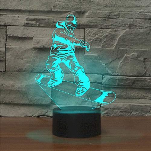 Bluetooth Musik Street Skateboard Nachtlicht 3D LED USB Tischlampe Kinder Geburtstagsgeschenk Nachtzimmer Dekoration