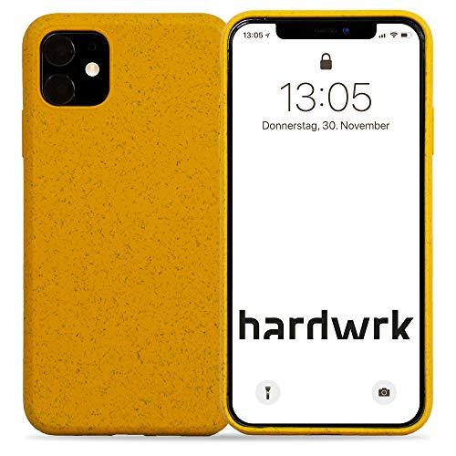 hardwrk Premium Eco Case - kompatibel mit Apple iPhone 11 - gelb - Nachhaltige, kompostierbare, biologisch abbaubare Schutzhülle Handyhülle Cover Hülle - Qi kabellos Laden