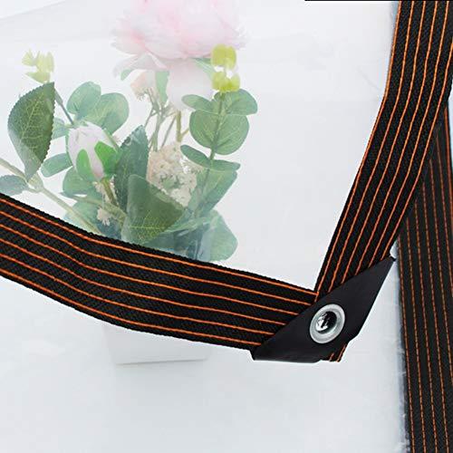 Lona Impermeable Balcón lona Transparente, Impermeable el Plastico Aislamiento de Polietileno lona Transparente con Ojales, para Plantas de Invernadero de Pérgola de Techo de Camión ( Size : 3m×8m )