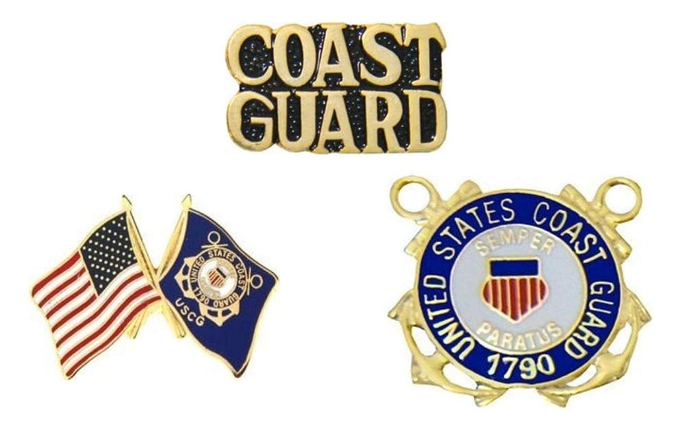 USCG U.S. Coast Guard Pins - Novelty Hat Pin 3 PACK
