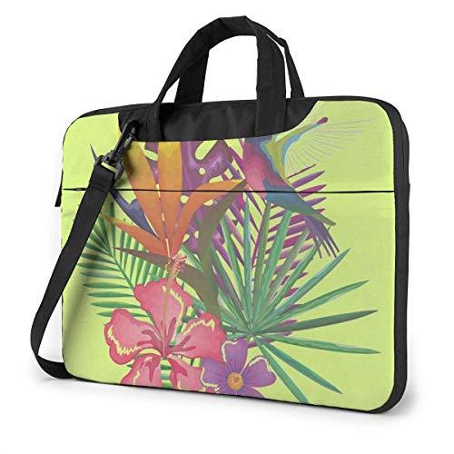 Estuche Tropical y para computadora portátil, 14 Pulgadas, Bolso de Mano para computadora, Bandolera, maletín para Viajes de Negocios