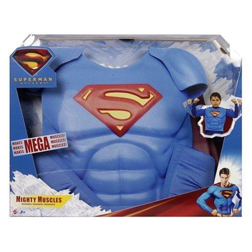 mattel set de déguisement de superman muscles d'acier inoxydable