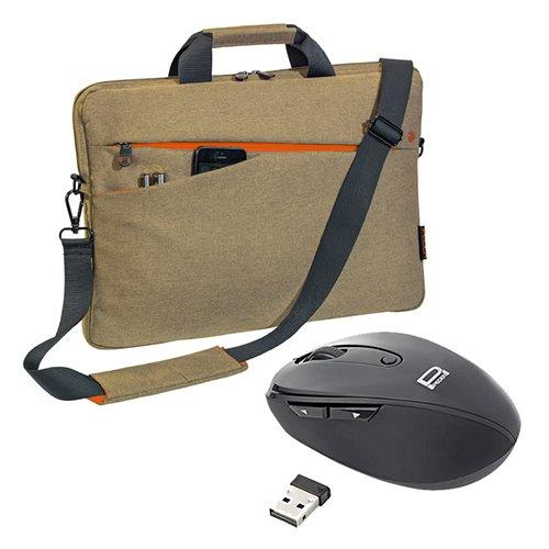 Pedea Notebooktasche Fashion 13,3/15,6/17,3 Zoll (17,3 Zoll mit Maus, beige)