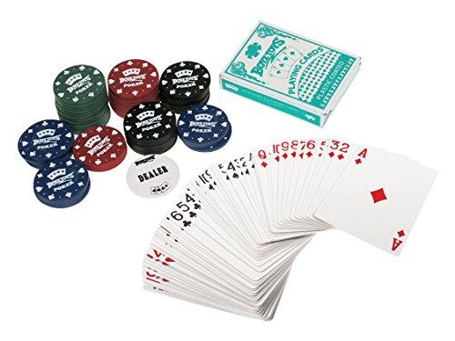 Boyz Toys Travel Set de Poker de Jeu Chip Dealer Cartes & Chips 48x4g