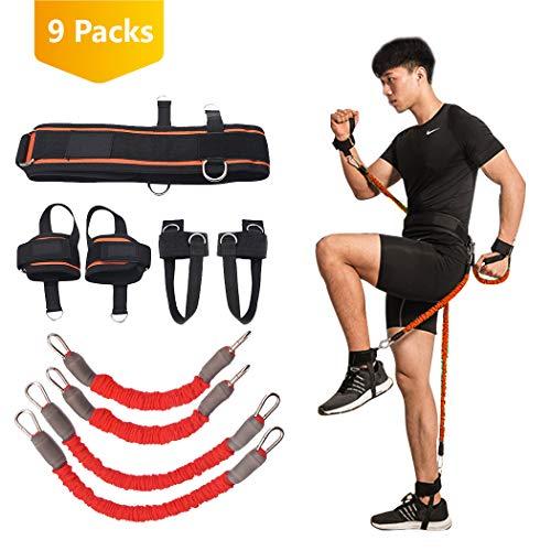 ITRAZ - Fascia di resistenza per boxe, boxe, crossfit, allenamento per gambe, forza e agilità, per calcio, basket, pallavolo, taekwondo, Muay Thai Fitness
