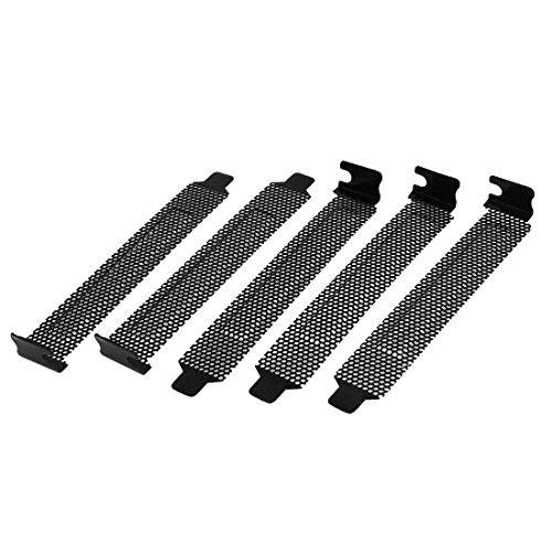 Sourcingmap® 5 Stück Hartstahl Staubdiht Filter Frontplatte PCI Slotblende Slotblech Schraub de