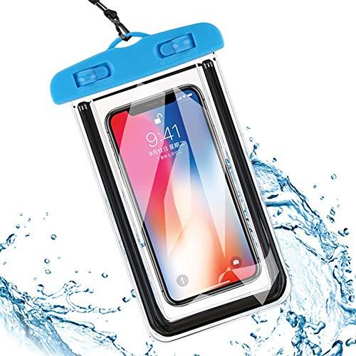 Funda Impermeable Universal para iPhone 11 Pro MAX XS MAX X XR 8 7 6 Plus Funda con Funda para Samsung para Huawei para Xiaomi, Azul