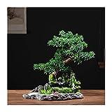 planta de escritorio Decoración artificial de la planta de la planta de árboles de bonsái artificial plantas de la casa artificial en maceta con la vívida base de roceses artificiales para la decoraci