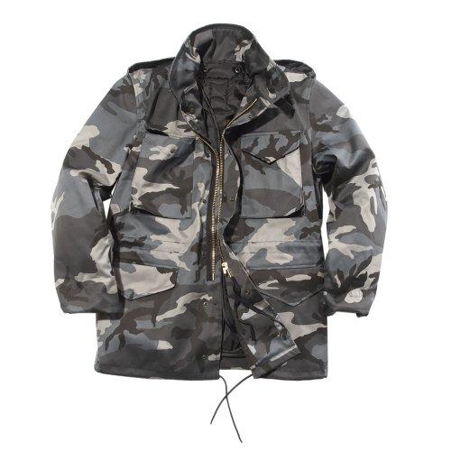 Mil-Tec Men's M65 Jacket Dark Camo, XL