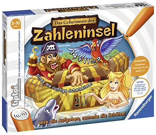 Ravensburger tiptoi 00512 Das Geheimnis der Zahleninsel - Lernspiel von Ravensburger ab 5 Jahren für 1-4 Spieler