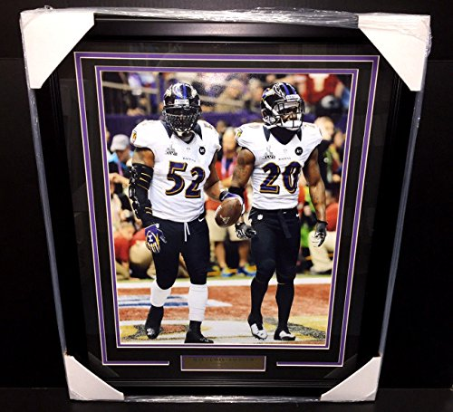 RAY LEWIS ED REED SB XLVII LAST GAME SB47 FRAMED 16X20 PHOTO BALTIMORE RAVENS