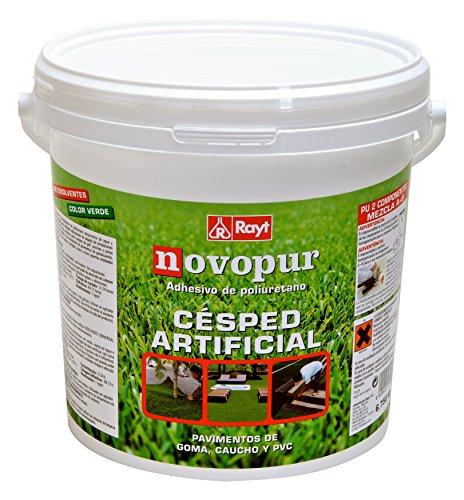 RAYT-NOVOPUR CÉSPED ARTIFICIAL- 1315-85 Adhesivo bicomponente (A+B) verde para pegado de césped artificial - 6,750 kg