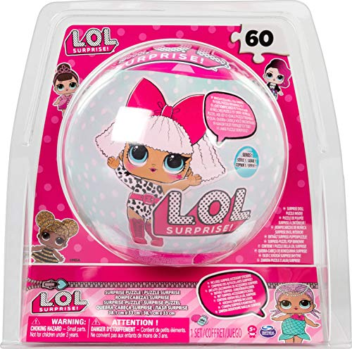 Spin Master Games 6042054 - LOL Doll SphereTin - Puzzle, 60 Teile, Poster und Sticker, L.O.L. Surprise