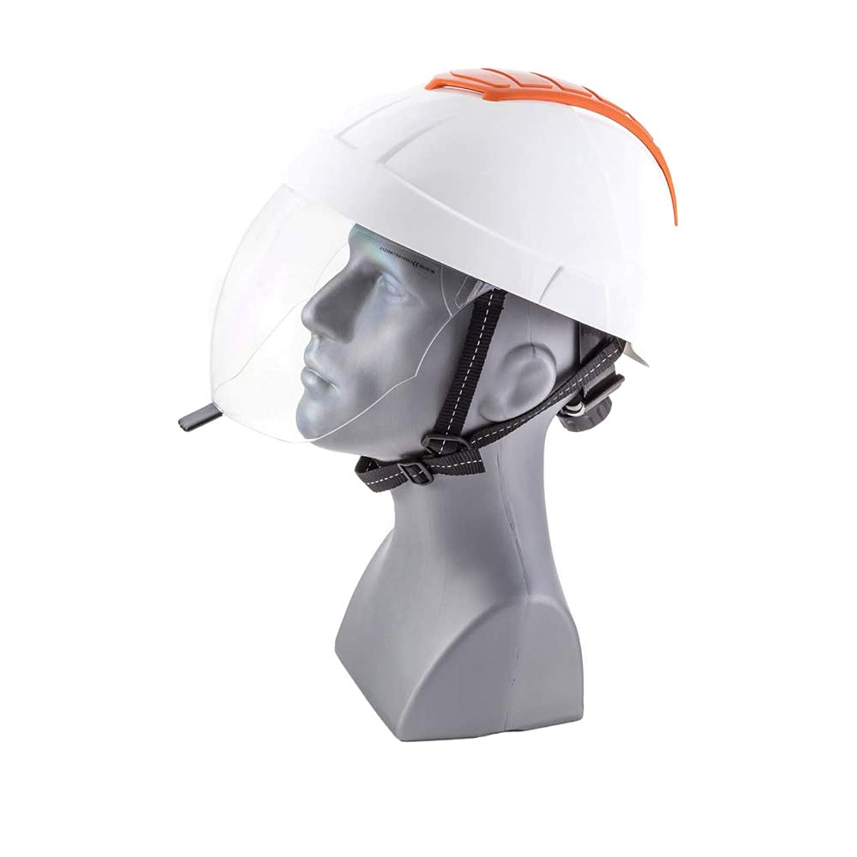 移民データベース公園ENHA 22EMA1111100 E-MAN 4000安全ヘルメット、レッド/ホワイト