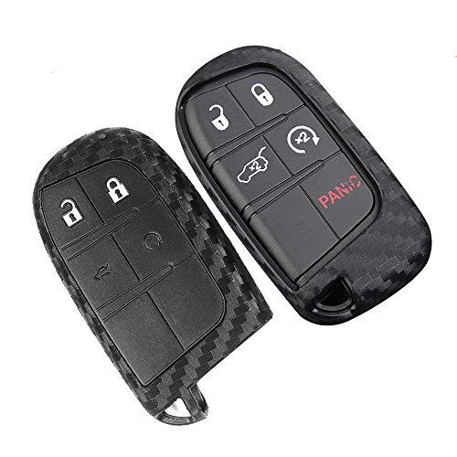 Funda protectora para llave de Jeep compatible con Grand Cherokee (WK2) Cherokee (KL) Renegade (BU)