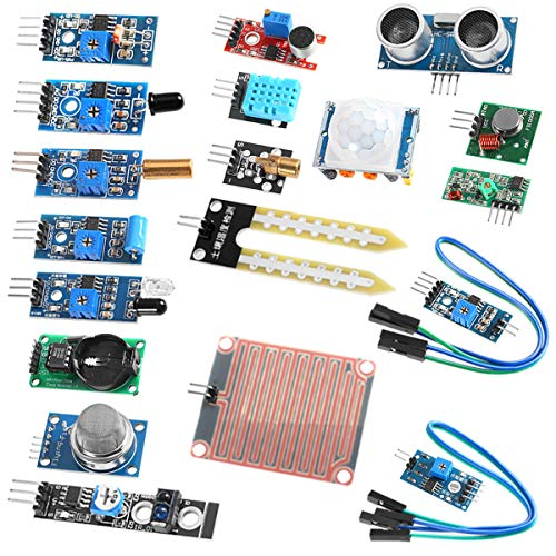 UMLIFE Sensor Modules Kit for Arduino, 16 in 1 Arduino Raspberry Project Super Starter Kits for UNO R3 Mega2560 Mega328 Nano Raspberry Pi 3 2 Model B K62