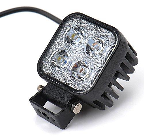 Leetop 12W LED Faro de Trabajo Luz Faro Coche Moto Luces Antiniebla Blanca Lámpara