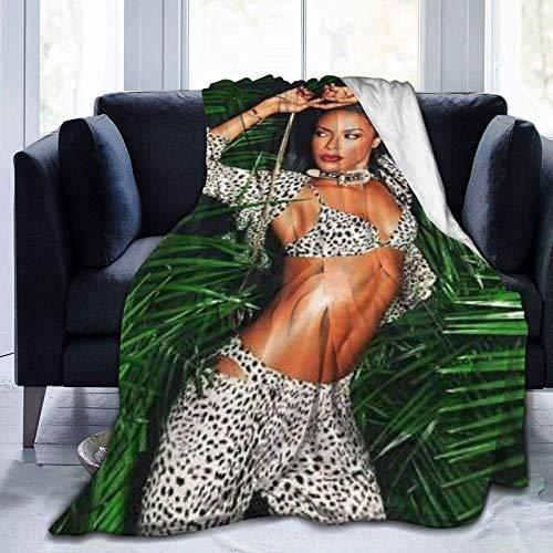 Tengyuntong Manta Ultra Suave Micro Fleece Aaliyah DaHaughton Warm para sofá Cama Oficina Rodilleras Cama Coche Campamento Sofá Cozy Plush 80 'x60'