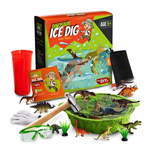 DIY jr Dinosaur Ice Dig - Educational Dinosaur Dig Kit for Kids -...