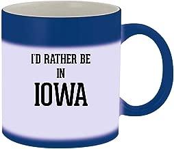 I'd Rather Be In IOWA - 11oz Ceramic Blue Color Changing Mug, Blue